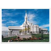 Bountiful Utah Day Temple Photo - 3x4