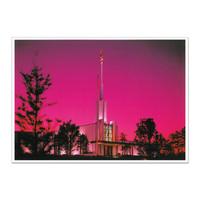 Atlanta Georgia Temple at Night 5x7 Print