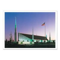 Boise Idaho Temple Night 5x7 Print