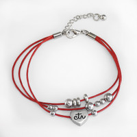 CTR Red Bead Bracelet