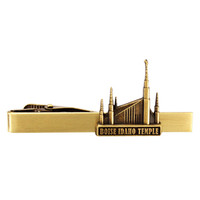 Boise Idaho Temple Tie Bar Gold