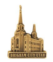 Brigham City Utah Temple Pin Gold