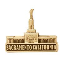 Sacramento California Temple Pin Gold