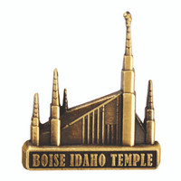 Boise Idaho Temple Pin Gold