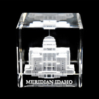 Meridian Idaho Crystal Cube
