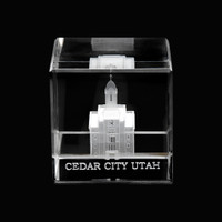 Cedar City Utah Crystal Cube
