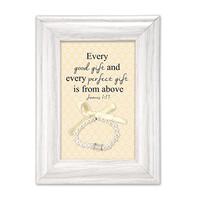 Baby Girl Blessing Gift with Bracelet Keepsake