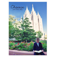 Choose You This Day Baptism Card