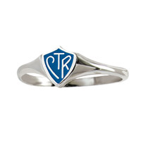 Blue Mini CTR Ring Stainless Steel