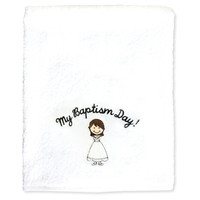 My Baptism Day Brown Hair Girl Towel