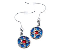 Nauvoo Temple Star Window Earrings