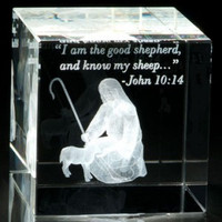 Good Shepherd Crystal Cube