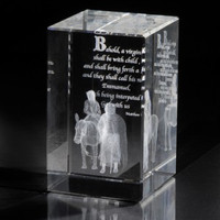 Journey to Bethlehem Crystal Cube