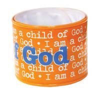 I am a Child of God Orange Slap Bracelet