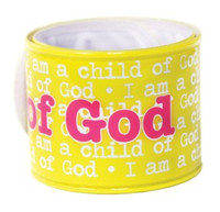 I am a Child of God Yellow Slap Bracelet