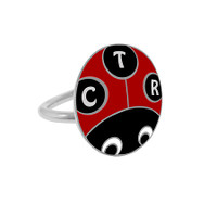 """""""Lucky Ladybug"""" Pinch fit CTR Ring Adjustable"""