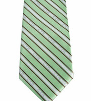 Boys' CTR Green and Brown Striped Tie