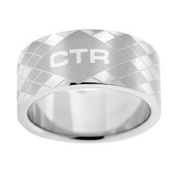 """Silver Argyle"" Stainless Steel CTR Ring"