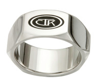 """Forged"" Stainless Steel CTR Ring"