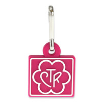 CTR Magenta Flower Zipper Pull