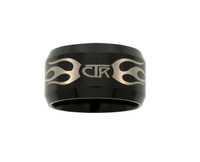 """Ignitor"" CTR Flames Black Tungsten Carbide"