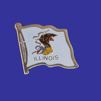ILLINOIS STATE FLAG PIN