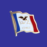 IOWA STATE FLAG PIN