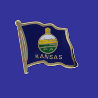 KANSAS STATE FLAG PIN