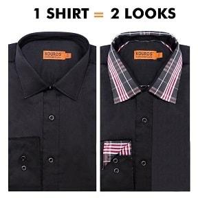 1-shirt-2-looks-black-mens-dress-shirt-by-kouros-men-288.jpg