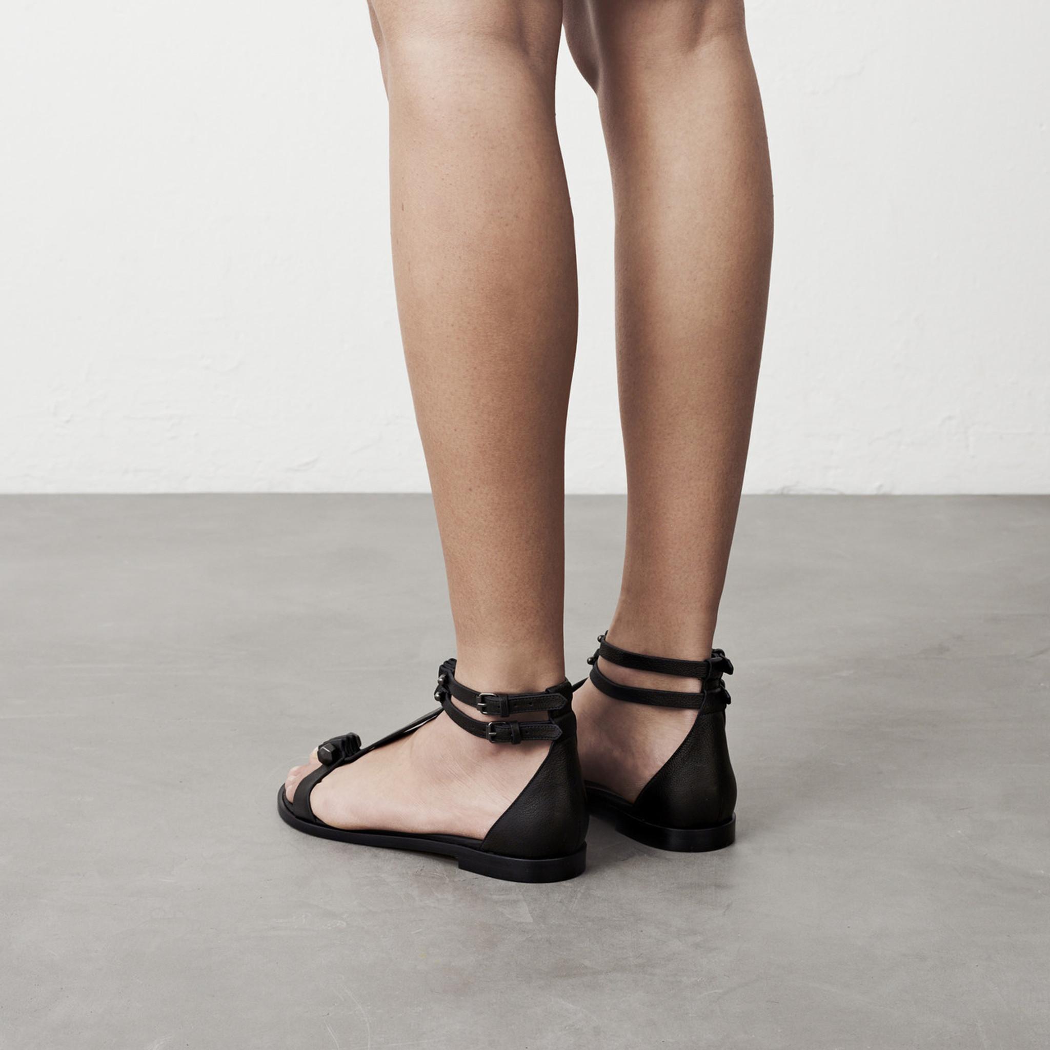 Black Pierced Sandal