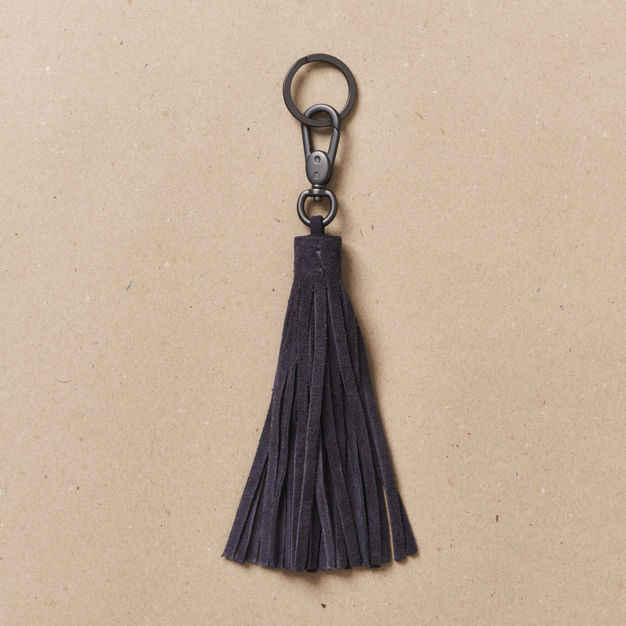 Steel Blue Tassel Key Holder
