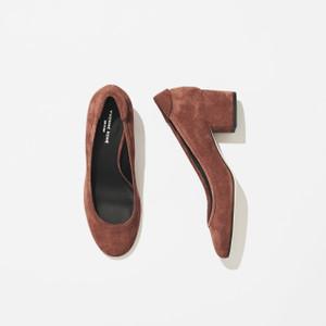 Terracotta Block Heel Pump