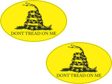 "2 PACK - ""DONT TREAD ON ME"" - GADSDEN FLAG 4x6 Inch Political Bumper Stickers"