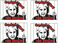 "4 Pack ""CROOKED HILLARY FOR PRISON"" 4x6 Inch Political Bumper Sticker"