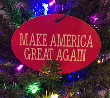 PRESIDENT DONALD TRUMP - MAKE CHRISTMAS GREAT AGAIN 4x6 Inch Christmas Ornament