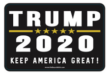 """TRUMP 2020 - KEEP AMERICA GREAT!"" 4x6 Inch Political Bumper Sticker"