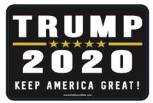 """""""TRUMP 2020 - KEEP AMERICA GREAT!"""" 4x6 Inch Political Bumper Sticker"""