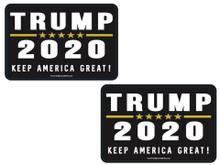 """2 PACK - """"TRUMP 2020 - KEEP AMERICA GREAT!"""" 4x6 Inch Political Bumper Sticker"""