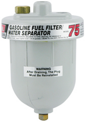 75 Baldwin Gasoline or Diesel Fuel Filter/Water Separator