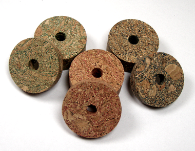 Burl cork rings available in 3 colors; green, red and blue. Burl Cork Rings