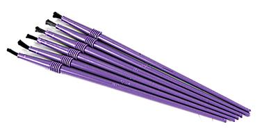 "1/8"" Wide Non-Shedding finishing brush. Flex Coat Disposable Finishing Brush"