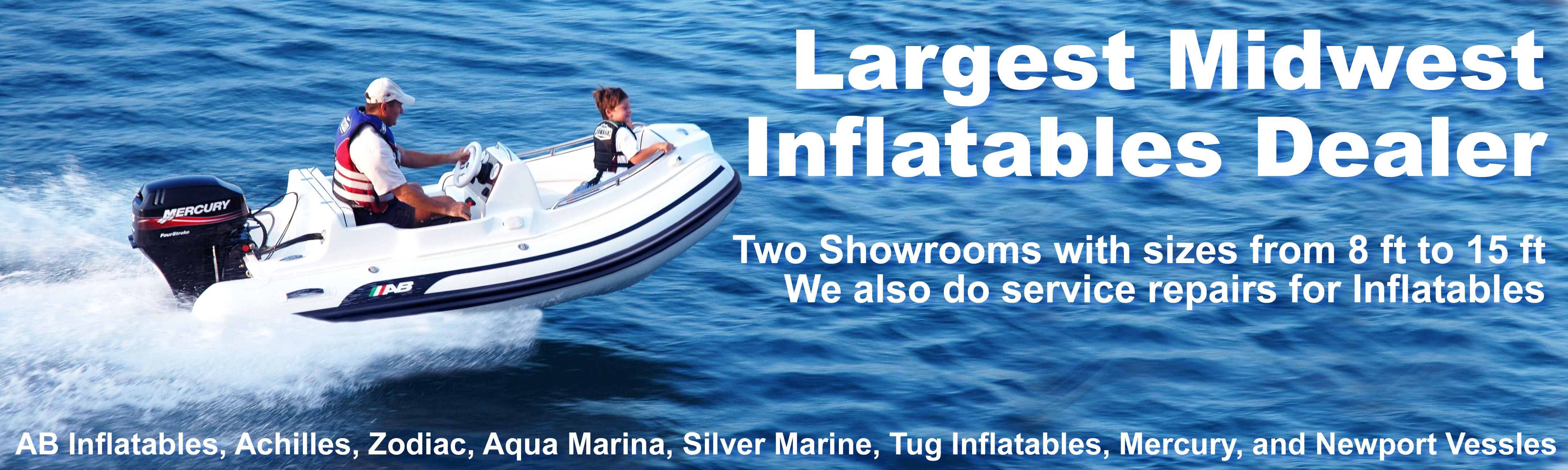 Wolf's Marine is the largest inflatables dealer in the midwest