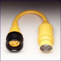 Marinco Pigtail Adapter - 30A Locking to 50A 125-250V Locking