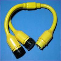 Marinco Y Adapter - 2-50 Amp Locking To 50 Amp 125-250 Volt Locking