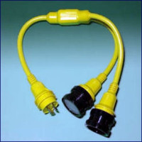 Marinco Y Adapter - 2-30 Amp Locking To 30 Amp Locking