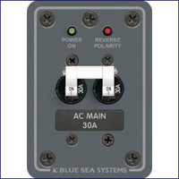 Blue Sea Systems 8077 120V AC Main 30 Amp Cir Breaker Panel