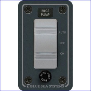 Blue Sea Systems Water Resistant 12V DC Panel - Bilge Pump Control  8263