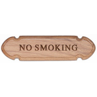 "Whitecap Teak ""No Smoking"" Name Plate"
