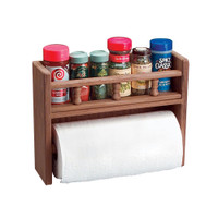 Whitecap Teak Paper Towel and Spice Rack