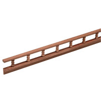 Whitecap L-type Pin Rail Teak  60703